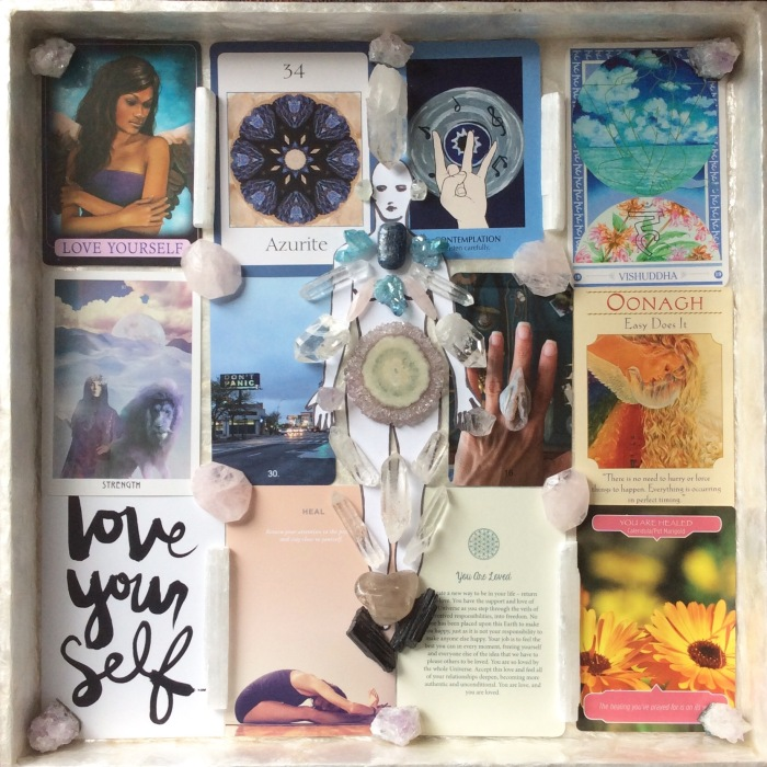 Intuitive Healing Mandala, guided, intuition, Tarot, crystals, insight